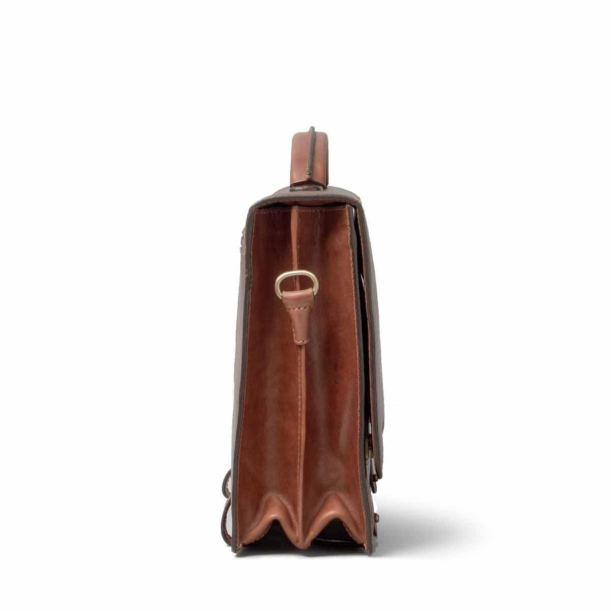 Maxwell Scott Personalized Luxury Tan Mens Leather Satchels (The Battista) - One Size by Maxwell Scott Bags (Image #4)