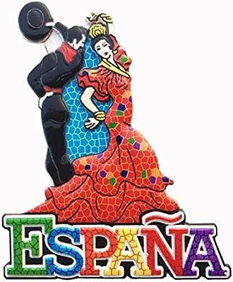 Weekino Souvenir Bailarina de Flamenco Barcelona España Imán de Nevera Resina 3D Viaje en la Ciudad Recuerdo de Viajes Colección de Pegatinas: Amazon.es: Hogar