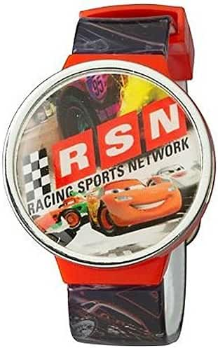 Disney Pixar Cars Boys LCD Flip Top Watch