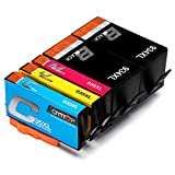 CMTOP 934xl 935xl Ink Cartridges Compatible for HP 934 935 XL 934xl 935xl (2 Black 1 Cyan 1 Magenta 1 Yellow) High Yield, Work with HP Officejet Pro 6830 6230 6815 6835 6220 6812 6820 6825 Printers