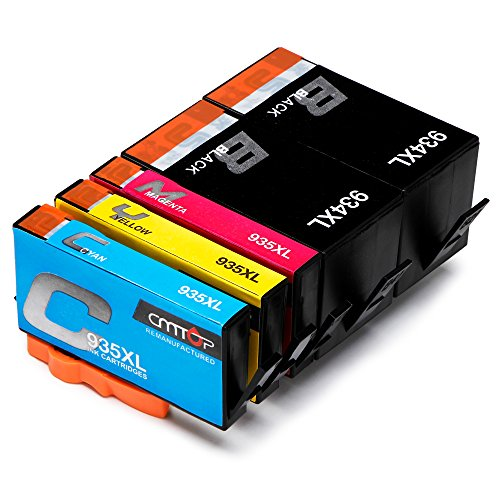 CMTOP 934xl 935xl Ink Cartridges Compatible for HP 934 935 XL 934xl 935xl (2 Black 1 Cyan 1 Magenta 1 Yellow) High Yield, Work with HP Officejet Pro 6830 6230 6815 6835 6220 6812 6820 6825 Printers by CMTOP