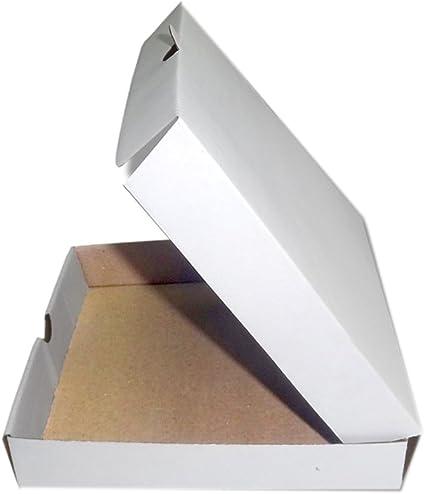 SPP - Caja de pizza corrugada (tamaño pequeño, 20 x 20 x 3,8 cm ...