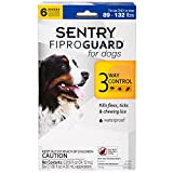SENTRY Fiproguard Flea and Tick Topical for Dogs, 89-132 lbs, 6 Month Supply