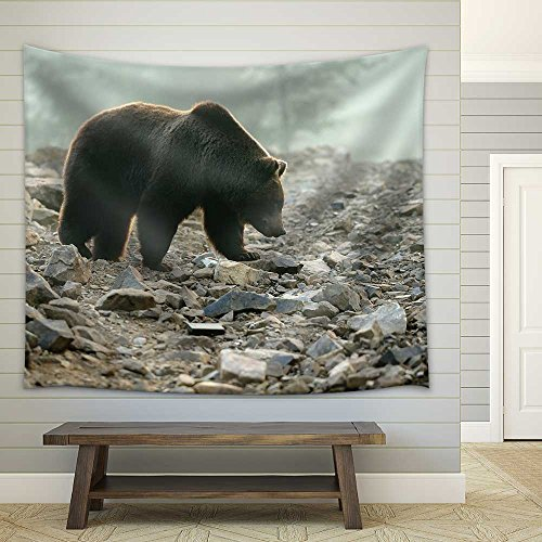 Big Brown Bear (Ursus Arctos) in The Forest Fabric Wall