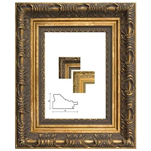 Bilderrahmen Antik Neapel In Silber DIN A1 Ohne Glas Mit Rückwand    Verfügbar In 31 Formaten