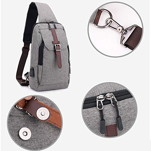 Shoulder And Crossbody For Travel Climbing Women Hiking Bonane Men Gray Sling Unbalance Running Backpack 703 Outdoor Bag Bn Cycling Chest wI4ARZ