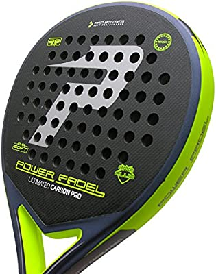 Pala Power Padel Ultimated Carbon Pro Silver / Yellow Rugosa ...