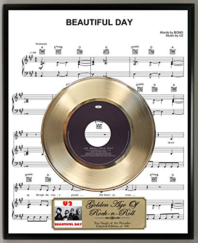 G.A.R.R. U2 Beautiful Day Limited Edition 45 RPM Gold for sale  Delivered anywhere in USA