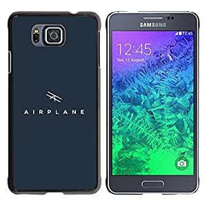 YOYOYO Smartphone Protección Defender Duro Negro Funda Imagen Diseño Carcasa Tapa Case Skin Cover Para Samsung GALAXY ALPHA G850 - signo avión