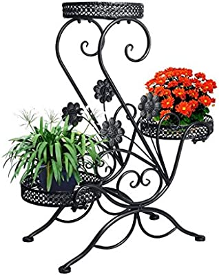 Bathroom Shelves Beautiful European Style Garden Iron Double Deck Storage Rack Home Improvement