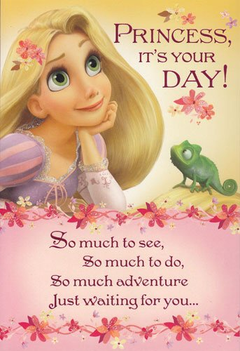 Amazon birthday card disney tangled princess its your day birthday card disney tangled quotprincess its bookmarktalkfo Image collections