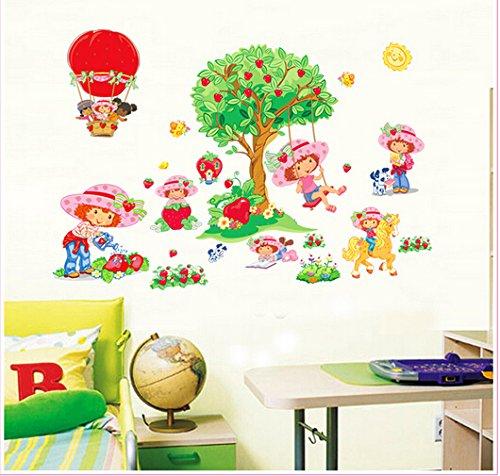 Dofull Strawberry Shortcake Wall (Strawberry Shortcake Wall Stickers)