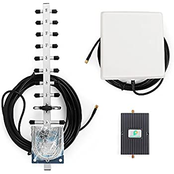 PROUTONE Mobile Signal Booster CDMA 3G Cellphone Repeater Amplifier with Directional Internal Panel Antenna and Yagi Directional Antenna (1900MHz)