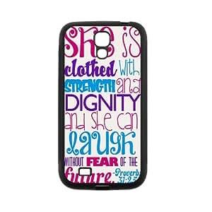 Custom Bible Verse Custom Back Cover Case for SamSung Galaxy S4 I9500 JNS4-494