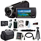 Sony HD Video Recording HDRCX405 HDR-CX405/B Handycam Camcorder (Black) + Son...