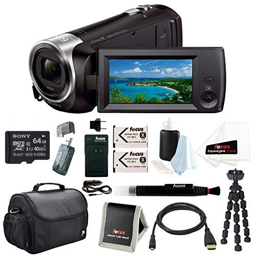 Sony HD Video Recording HDRCX405 HDR-CX405/B Handycam Camcorder (Black) + (Video Sony Camera)