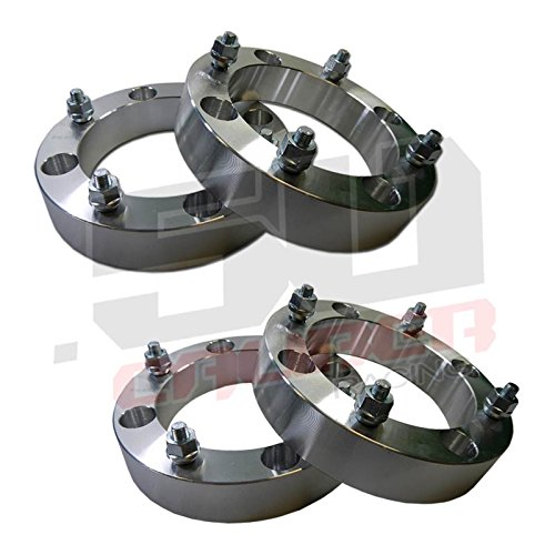 "Set of Four (4) Wheel Spacers - 4x156 – 1.5 Inch Thick – 3/8"" Studs - Polaris RZR, RZR4, and Rangers Up to 2012 and some 2013 [5215-A]"