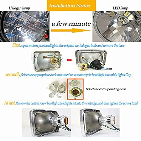 H4 LED Headlight Bulb Motorcycle High Low Beam,New Version Chips Super Bright 1400LM 6000K White pack of 1 TOAUTO