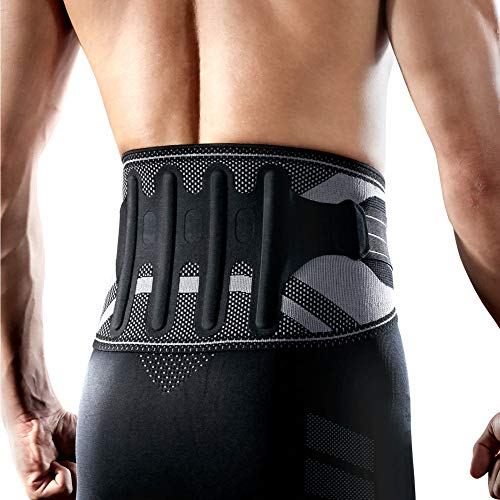LP SUPPORT LP Support X-Tremus 161XT Men's Back Support 2.0 - Semi-Rigid Lumbar Support Belt - Enhanced Compression for Extra Stability and Superior Support (Large)