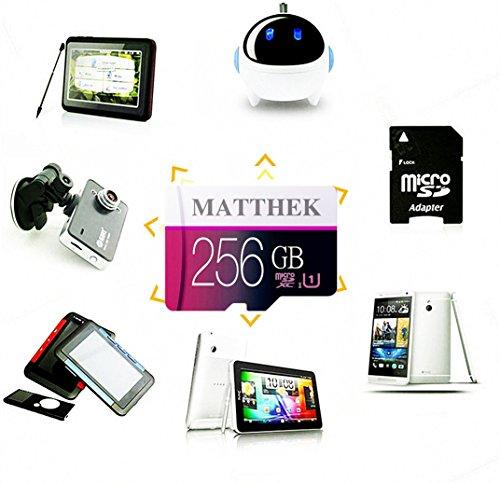 Matthek 256GB Micro SD SDXC Memory Card High Speed Class 10 With Micro SD Adapter(M239-U5) by Matthek (Image #1)