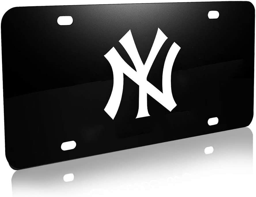 Stainless Steel Chrome 3D Front License Plate Covers with Screw Car-tools Heavy Duty Premium 3D Logo License Plate Cover for Yankees All Models