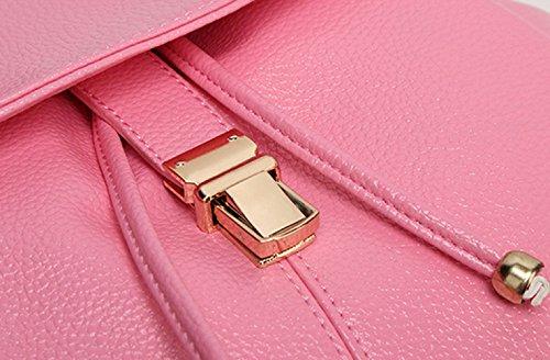 ZHXUANXUAN PU Casual Sac Pink Daypack à Bandoulière Cuir Dos à En Sac UnU6qXr