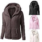 Product review for Women Winter Warm Hooded Fleece Plush Jacket Wool Zipper Sweater Pocket Coat