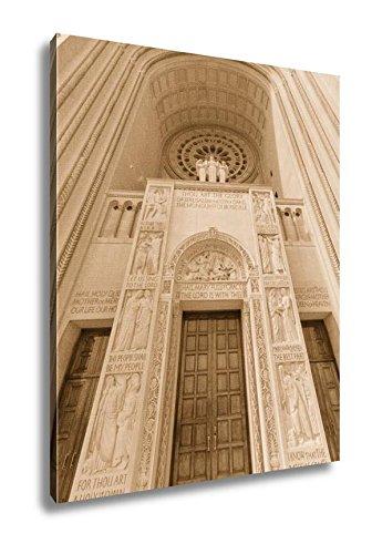 Ashley Canvas Washington D C Basilica Of The National Shrine Catholic Church, Home Office, Ready to Hang, Sepia 25x20, AG6556627 by Ashley Canvas