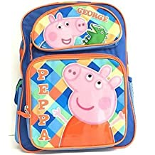 "Small Backpack - Peppa Pig - George 12"" Large School Bag New 122892"