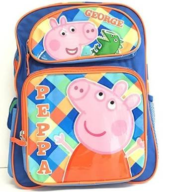 Image Unavailable. Image not available for. Color  Peppa Pig George  12 quot  Toddler Backpack defb28b4d72a3