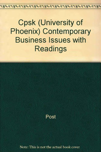 Contemporary Business Issues with Readings