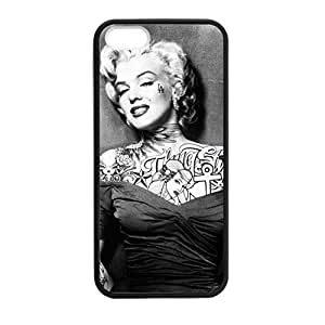 Marilyn Monroe for iPhone 5 5s Case Cover 032798 Laser Print Technology with Shockproof Protection Rubber Sides