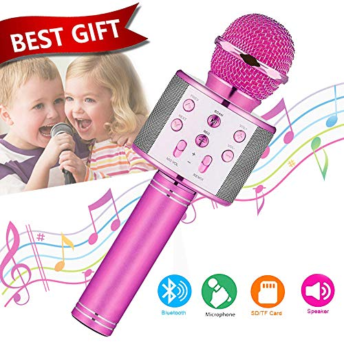 Toys For 5-14 Years Old Girl Gifts,Niskite Wireless Bluetooth Karoake Microphone For Kids Age 4-12,Best Fun Birthday Gifts For 6 7 8 9 10 Years Teens Girls Boys