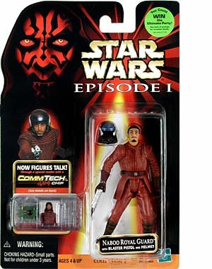 Star Wars Naboo Royal Guard w/Blaster Pistol and Helmet
