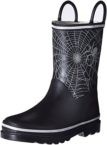 Western Chief Boys Waterproof Printed Rain Boot with Easy Pull On Handles, Reflective Web, 12 M US Little Kid - Reflective Web