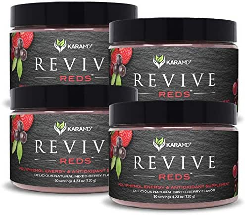 KaraMD R-Reds (Multi-Unit Packs) | Dr Formulated Concentrated Polyphenol Energy Blend | Natural & Non-GMO Superfood Powder Health Supplement | Vital Reds & Complete Digestive Enzymes