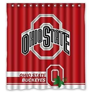 Fashionable Bathroom Collection Custom Ohio State Buckeyes Custom Shower Curtain