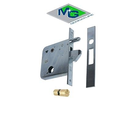Cerradura de ponerse MG Art. 574810 para puertas correderas entrada 81 gancho superficie de acero