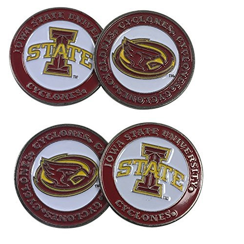 Iowa State University Cyclones Set of Four (4) double-sided golf ball markers