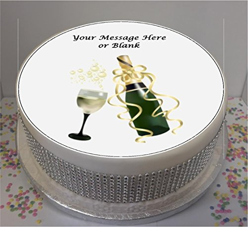 Personalised Champagne & Glass 19cm / 7.5