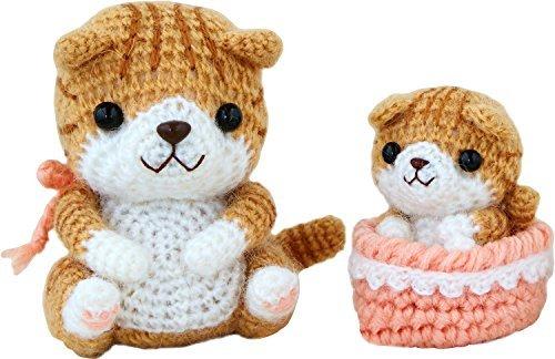 Handicraft pack Cute ayumi giguri neko parent and child (Scottish fold) by Hamanaka