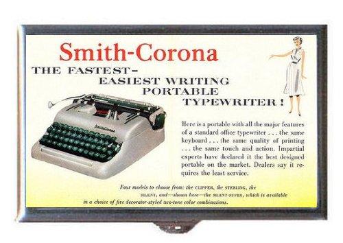 1950s Smith-Corona Portable Typewriter Retro. Guitar Pick or Pill Box USA Made