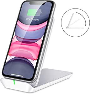 ESR Foldable Wireless Charger, Shift Fast Wireless Charging Stand & Pad, Fast-Charging Compatible with Galaxy S20/S20+/S20 Ultra/Note10, iPhone SE/11/11 Pro/11 Pro Max/XS, 5W for Pixel 3/4, White