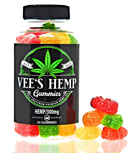 Premium Hemp Gummies- 10 mg Gummy Bear -Full Spectrum Hemp Infused -Great Taste - Non GMO -Organic - USA Made - Natural Relief for Sleep Insomnia Anxiety Pain Inflammation Depression and Nausea 30 ct. - Free Message Lollipops