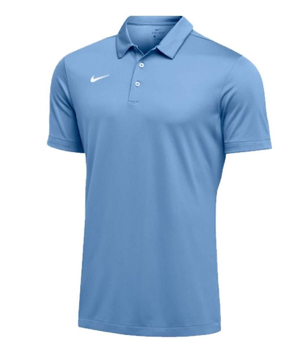 Nike Mens Dri-FIT Short Sleeve Polo Shirt (Small, Sky Blue)
