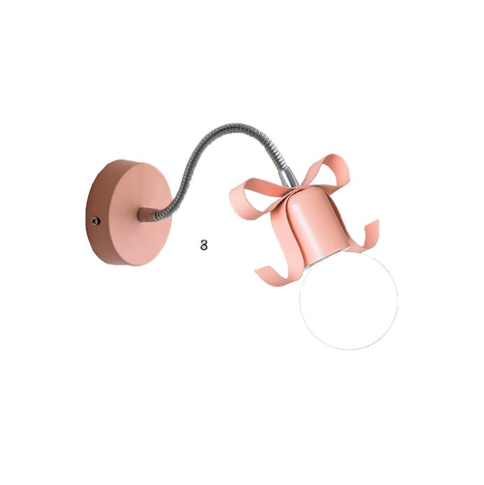 MLeF Persönlichkeit Einfachheit Wandlampe, Moderne und einfache Korridorlichter Studieren Schlafzimmerkopfteil E27 Eleganz Schönheit (Farbe   Rosa)