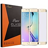 Galaxy S6 Edge Plus Screen Protector - Peyou [Curved Full Coverage Glass Screen Protector] Premium Tempered Glass - [Crystal Clear 9H Hardness] with Oleophobic Coating for Samsung Galaxy S6 Edge Plus, GOLD