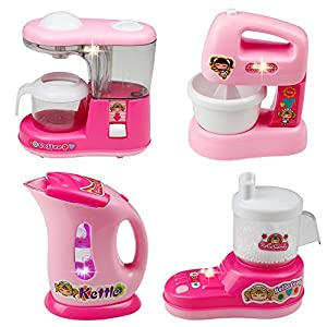 Childrens Kitchen Appliances Kitchen Toy Set Role Play Kitchen Toys Accessories  Kids Kitchen Playset Pretend Play Kitchen Accessories Mixer Toy Kitchen For  ...