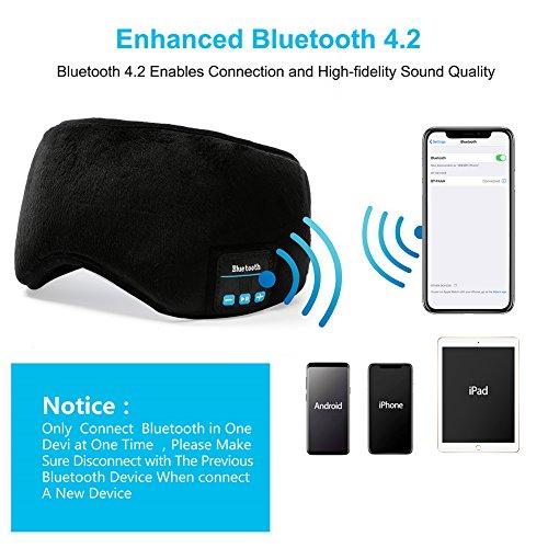 Bluetooth Sleeping Eye Mask | Sleep Headphones, Joseche Wireless Bluetooth  Headphones Music Travel Sleeping Headset 4 2 Bluetooth Handsfree Sleep Eye