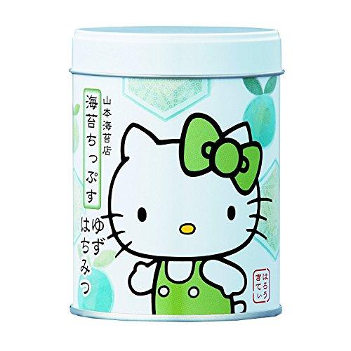 Yamamoto-Noriten x Hello Kitty Seaweed Chips Flavored Seaweed Assorted 4 flavors(Plum, Sesami, Yuzu Honey, Curry) Made in Japan [Japan Import] by Yamamoto-Noriten (Image #3)